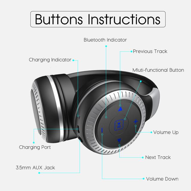 ZEALOT B20 HiFi Stereo Bluetooth Headphone Wireless Headset Super Bass Over Ear Handsfree With Microphone