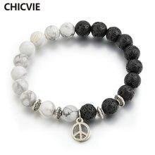 Chicvie черный и белый амулеты расстояние браслет браслеты для