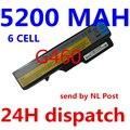 5200 mah nueva batería de 6 células de baterías del ordenador portátil para lenovo g460 g470 z460 Z470 V470 Z370 Z465 E47 B570 B575 G560 V360 V560 Z560