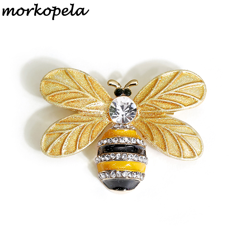 Petite abeille insecte broche broches cristal broche diamant cadeau chic