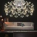 Потолочные круглые хрустальные лампы для гостиной  стильные креативные ресторанные лампы  современный минималистичный светодиодный потол...