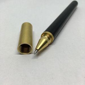 Image 3 - Handmade Ebony Wood& Brass Gel Pen Natural Color Metal Pen Luxury Gift Set for  Business Office & School Writing tool