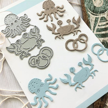 Buy YaMinSanNiO Ocean Series Metal Cutting Dies New 2019 for Card Making DIY Scrapbooking Embossing Cuts New Craft Die Crabs Element directly from merchant!