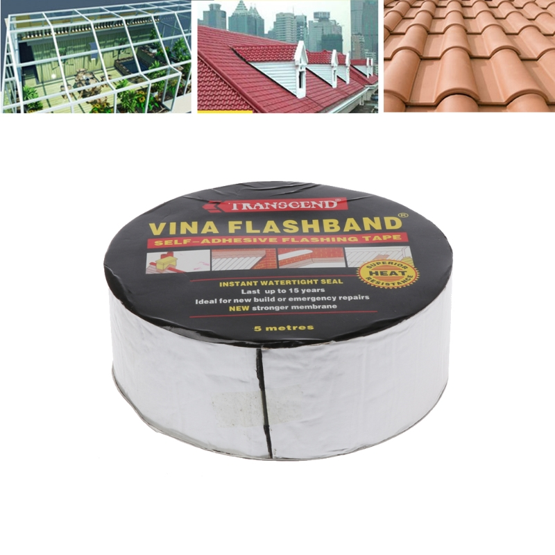 Aluminum Foil Butyl Rubber Tape Adhesive Sealing Best for RV Roof Marine Repair free shipping