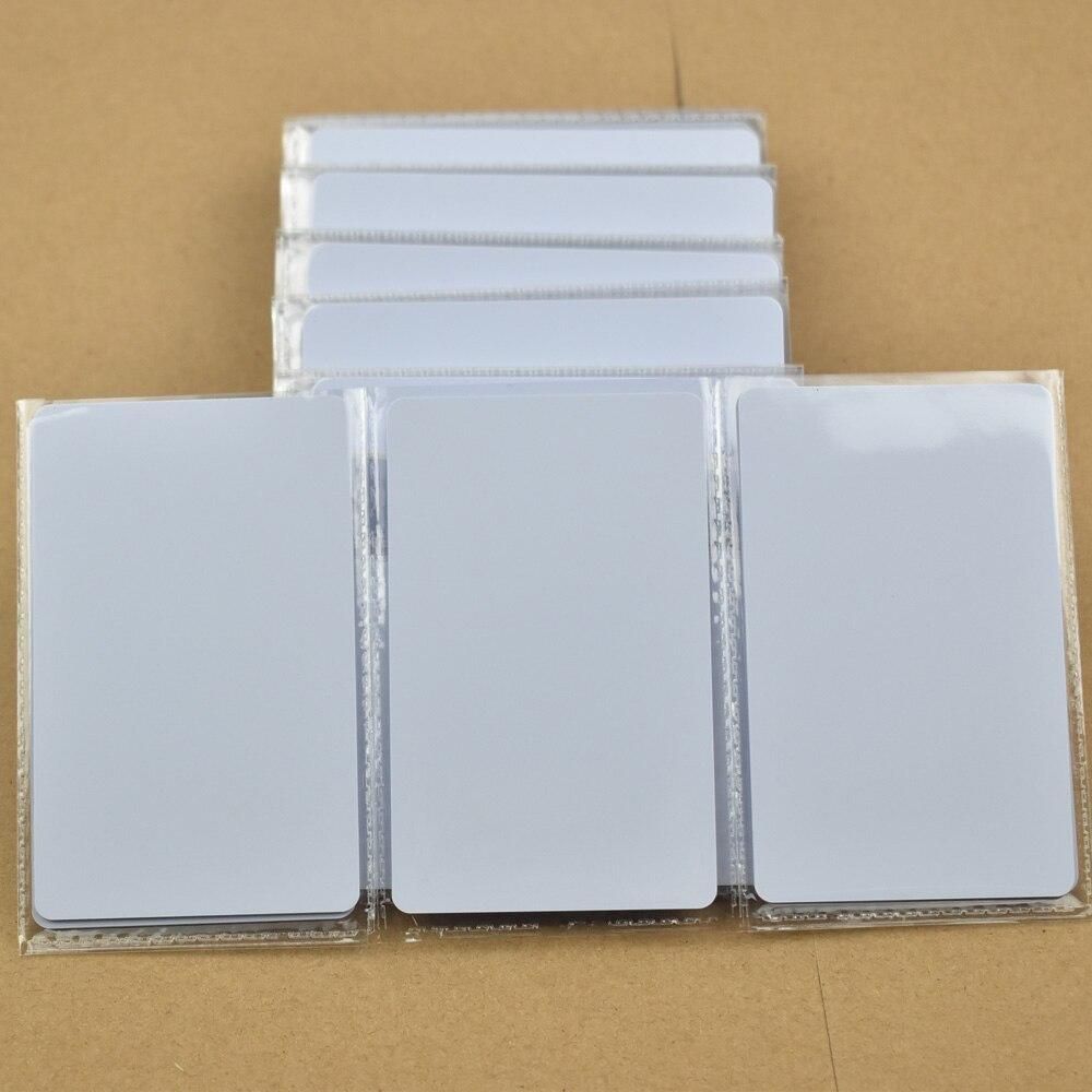 bilder für 50 stücke ISO14443A NFC Karte RFID Smart Tag 1 karat NTAG215 Chip Weiße Karte für Alle nfc-fähige geräte