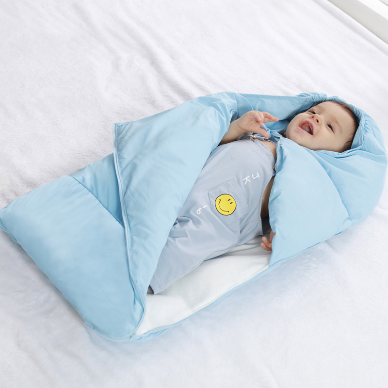 Newborn Sleeping Bag Winter Stroller Bed Swaddle Blanket Wrap Bedding Cute Silkworm Cocoon Baby Zipper Stroller Sleeping Bag baby sleeping bag cute fashion muslin swaddle newborn s envelope stroller foot set blanket winter warm