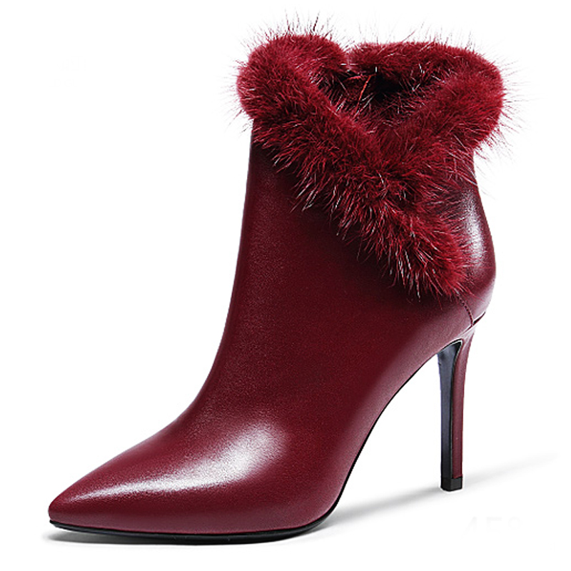 Large Size 40 Women Ankle Boots Heels 2015 Autumn Winter Botas Red High Heel Shoes Platform Suede Woman Boots Female Shoes enmayla ankle boots for women low heels autumn and winter boots shoes woman large size 34 43 round toe motorcycle boots