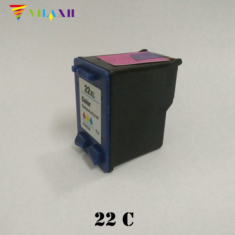 Vilaxh 22 XL Compatible Ink Cartridge Replacement for HP 22XL For Deskjet F380 F2280 F2180 F4180 D1460 D2360 F2235 F2275 Printer 1pk replaces ink cartridge for hp22 c9352a c9352an c9352an 140 suit for deskjet d2320 d2330 d2345 d2360 d2368 d2400 printers
