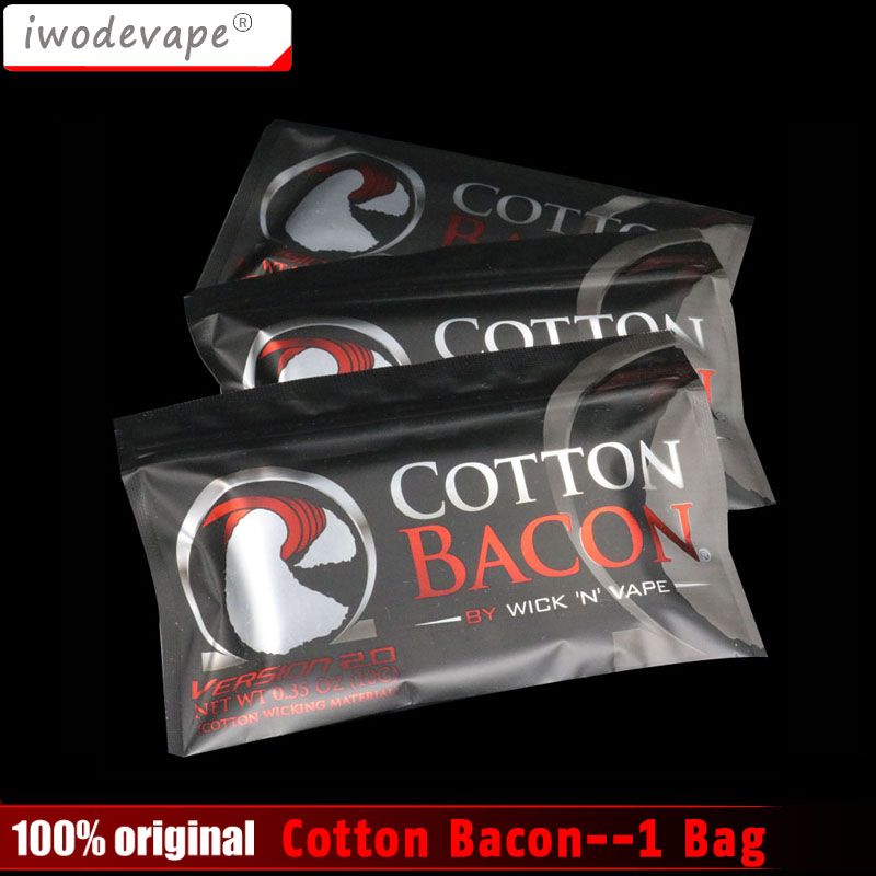 New arrival high quality Cotton Bacon rda cotton For RDA RBA Atomizer e cig DIY Electronic Cigarette hd rda with side adjustable airflow for e cigarette