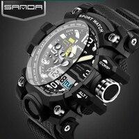 2017 G Style SANDA Clock Mens Watches Top Brand Luxury Waterproof Sports Digital Quartz Watches Men