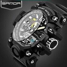 2017 г Стиль Санда часы мужские часы лучший бренд Роскошные Водонепроницаемый спортивный цифровой кварцевые часы мужские s шок Relogio Masculino