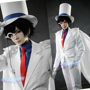 Image 5 - Uniformes le fantôme pour enfant, Costume de Cosplay, détective CONAN Magic Kaito, 7/lot