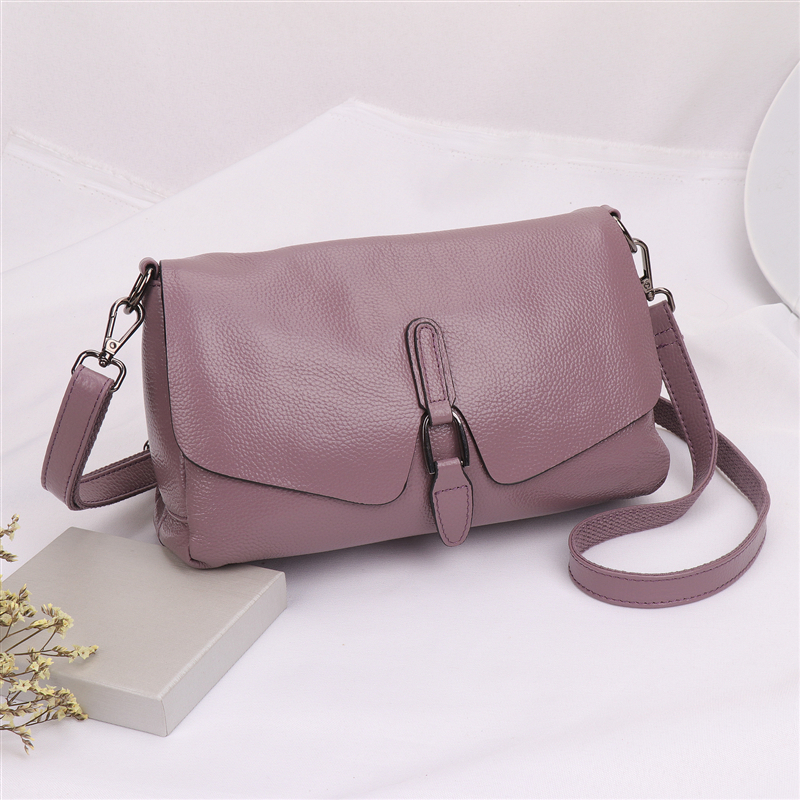Pure leather handbag 2019 new leather shoulder Messenger bag female fashion wild texture first layer leather portable bag