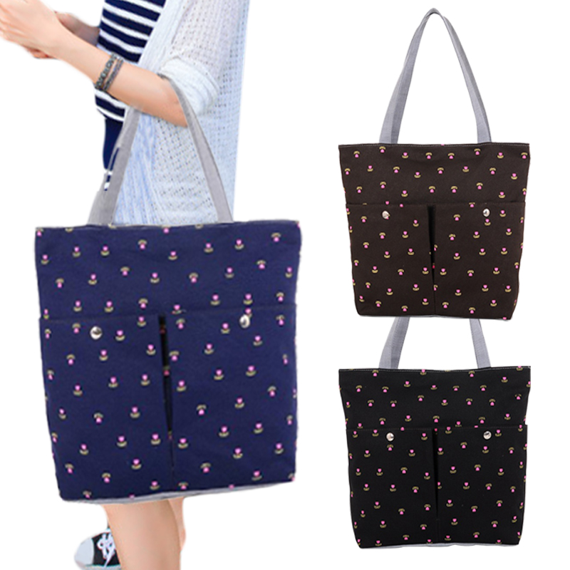 Cherry Canvas Handbag Preppy School Bag for Girls Women's Handbags Cute Bags