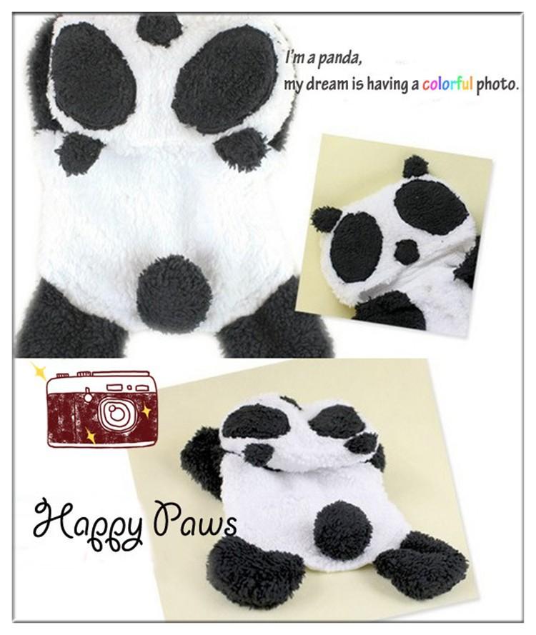 Moda perro de mascota panda con capucha de Halloween necesario oso ...