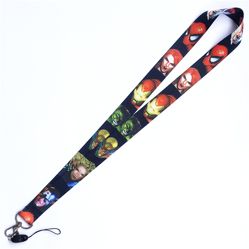 Marvel Superhero The Avengers Neck Strap Lanyards for keys ID Card Gym Mobile Phone Strap USB Badge Holder Rope Key Chain Gift