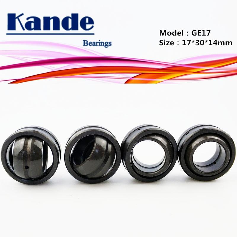 Kande Bearings GE17ES Radial Spherical Plain Bearings (bulk Eye Bearings) 4pcs GE17 ES  17*30*14mm GE17