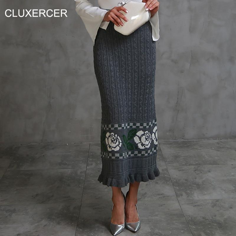 Купить теплую юбку трикотажную