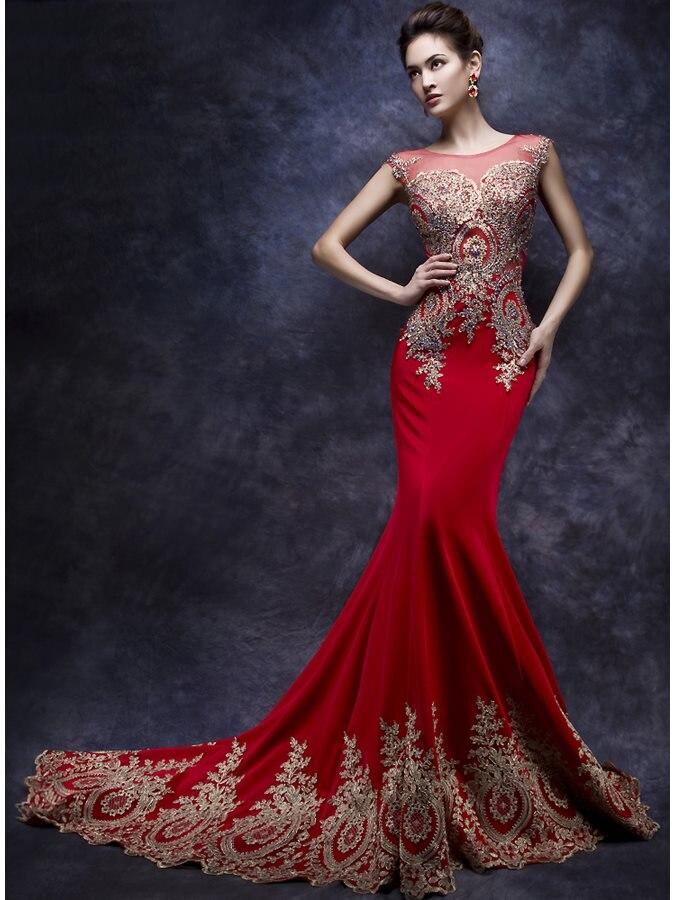 Robe de Soiree Longue настоящий Кафтан Дубай красные вечерние платья Русалочки с рукавами крылышками 2020 Вечерние платья Vestido Longo