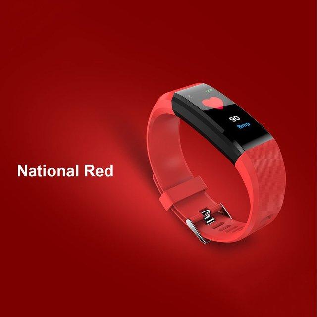 Smart Watches 115 PLUS Bluetooth Intelligent Bracelet Passometer Smart Band Heart Rate Monitor Fitness Tracker IP67 Waterproof