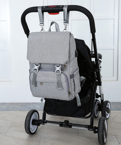 Image 3 - Baby Diaper Bag With USB Interface Large baby nappy changing Bag Mummy Maternity Travel Backpack for mom Nursing bags