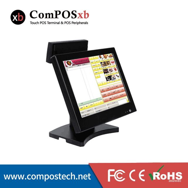 free shipping restaurant pos machine cheap all in one pos terminal retail cheaper touch pos machine with VFD customer display