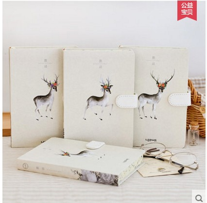 2017 Newest Stationery Notebook Hardfaced Animal Art Notepad Magnetic Buckle Diary Composition Book Gift For Student Children objective ielts advanced student s book with cd rom