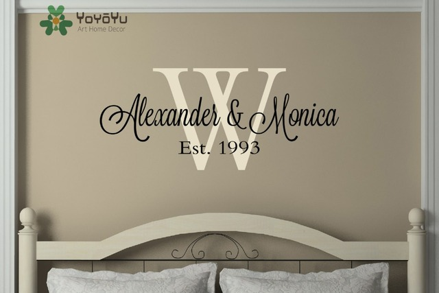 Family Name Monogram Established Date Personalized Wall Decal Art Living  Room Decor Vinyl Wall Sticker Adesivo