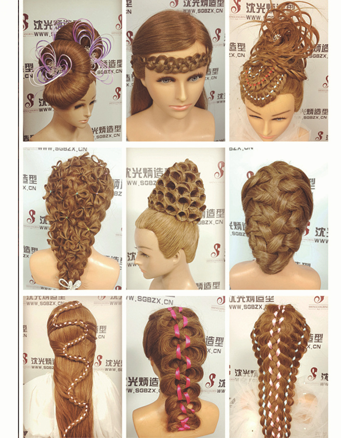 20 Blonde Maniqui Professional Hairdressing Training Head 100 Human Hair Mannequin With Dummy Doll Dhl Free Shipping In Mannequins From Home
