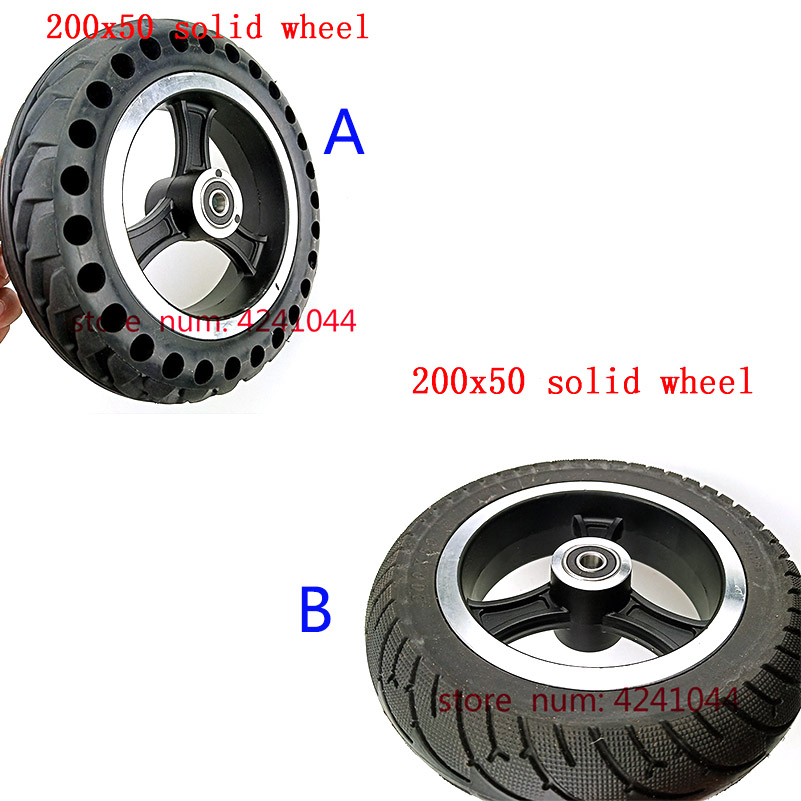 Mobility Scooter wheelchair wheels 200 x 50 tyre (8x2) Solid <font><b>Tire</b></font> and alloy wheel hub Fits Gas Scooter Electric Scooter Vehicle image