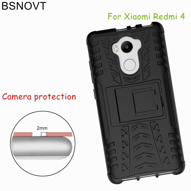 BSNOVT For Xiaomi Redmi 4 Pro Case / Prime Cover Dual Layer Armor Phone Funda 5.0<