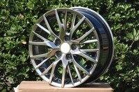 18 inch Black Machine Face Wheel rims fits Honda CR V Land Rover Freelander W241