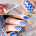 12 Dicas/Folha Escama de Peixe Prego Vinis Nail Art Manicure Adesivos Stencil JV203 #23525