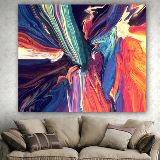 2017 HD painting Wall hanging blanket tapestry beach throw towel home decorative simply pattern printed supersoft tapestries 5