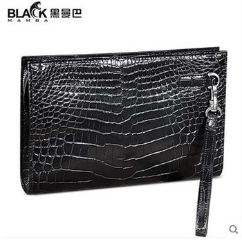 2018 heimanba crocodile Money men wallet male belly business big capacity document zipper hand grab bag crocodile men clutch bag