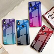 For Xiaomi Redmi Note 5 7 6 Pro 6A Gradient Tempered Glass Case Cover For Xiaomi A2 Lite A1 9 Mi8 Mi6X Mi9 SE F1 Aurora Cases for xiaomi redmi note 7 6 5 k20 pro 6a 5 plus case gradient tempered glass cover for xiaomi pocophone f1 mi 9 9t 8 se a2 lite a1