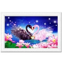 5d Diy Mosaic Art Needlework Diamond Painting Swan Rhinestone Cross Stitch Animal Wedding Diamond Swans Embroidery