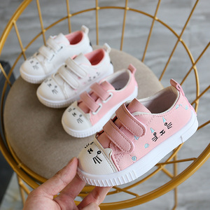 2019 Toddler Shoes Children Flats Breathable Single Shoes Boys Girls Kids Sneakers  Cat Sneakers Sports Running Shoes
