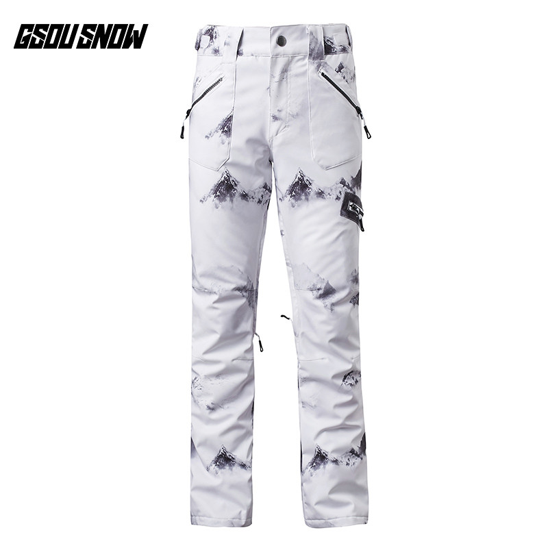 все цены на GSOU SNOW Brand Ski Pants Women Skiing Snowboarding Pants Female High Quality Winter Outdoor Sport Waterproof Warm Snow Trousers