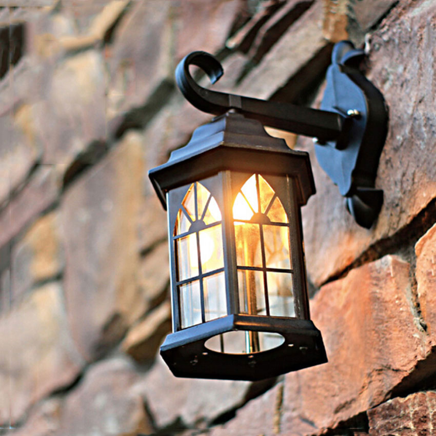 Europe wall lamps waterproof outdoor sconce light mediterranean balcony garden light fixture WCS-OWL009 ...