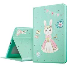 ESR PU Leather Folio Case Stand with Cartoon Pattern and Smart Cover for iPad 6/Air 2