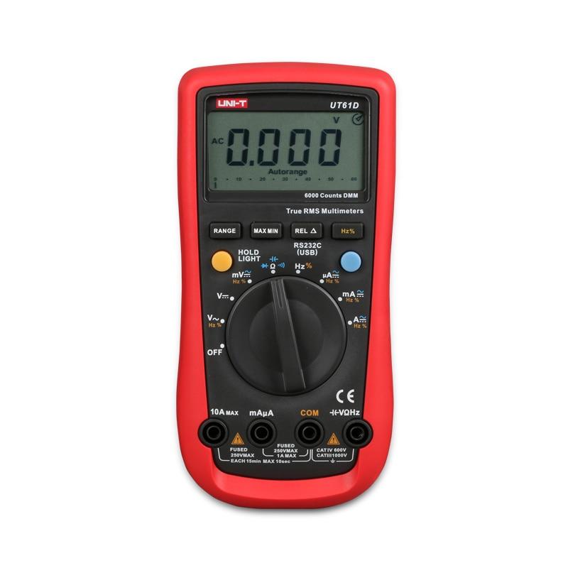 New Arrivals UNI-T UT61D Handheld Multimeter Ammeter Ohm Volt Digital Universal Meter LCD Count 5999 AVO High Precision China  uni t ut60d ut 60d lcd handheld digital multifunction multimeter with autorange bandwidth 100khz 3db