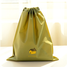 Home Cartoon Drawstring Pouch Travel Bags Clothes Storage Luggage Bags Waterproof Clothing Bag Shoe Bag Green