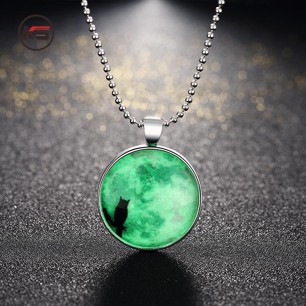 collections glow dark products glowing necklace alicorn pendant the unicorn animal original magic spirit horn in