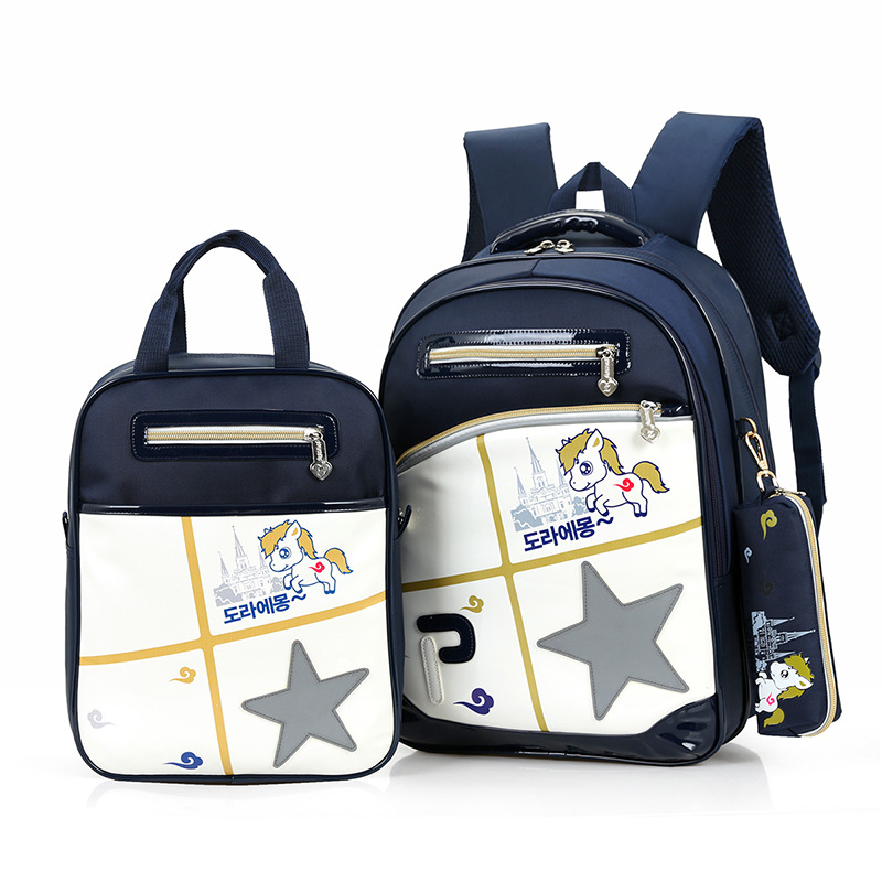 NUOVO 3 pz mochilas escolares grande zaino scuola impermeabile ortopedico zaino di scuola sacchetto di scuola dello zaino per il ragazzo il sacchetto di scuola