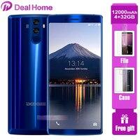 DOOGEE BL12000 Big battery 12000mAh Smartphone 4GB 32GB 6.018:9 FHD+ Screen 16MP+8MP 4 Cameras MT6750T Octa Core Cellphone