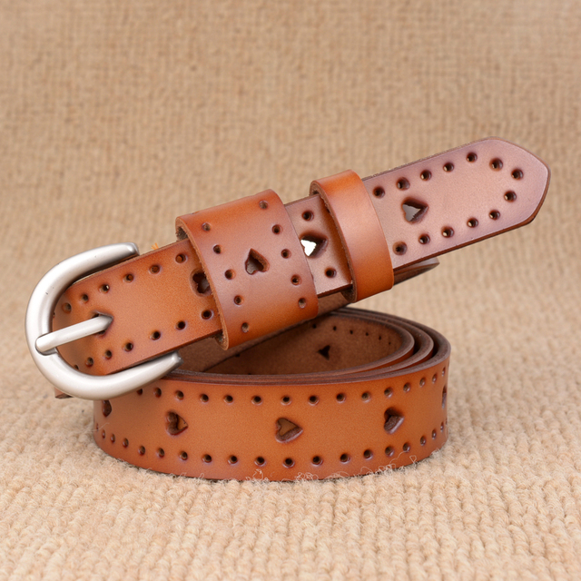 Ladies Hot Sale Genuine Leather Fashion Hearts Belts
