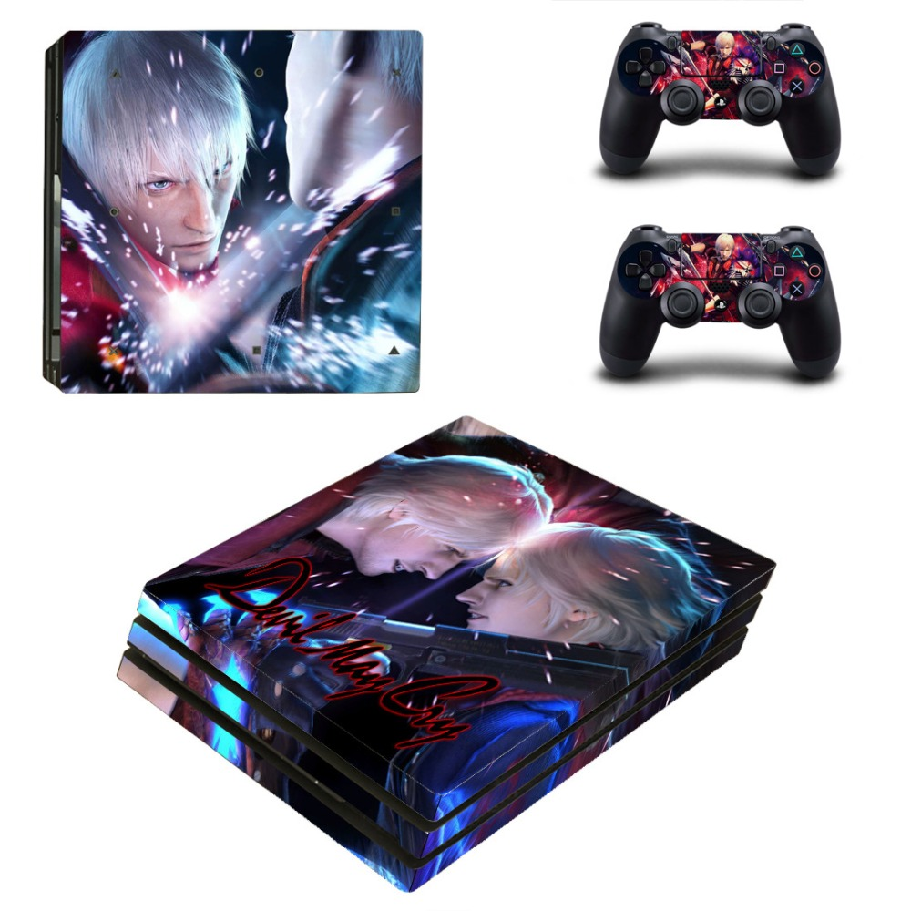 PS4 Pro Skin Sticker Cover For Sony Playstation 4 Console&Controllers - Devil May Cry