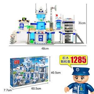 Image 3 - Banbao City Serie Politie Station Helicopter Auto Bricks Educatief Bouwstenen Model Speelgoed 8353 Voor Kinderen Kids Geschenken