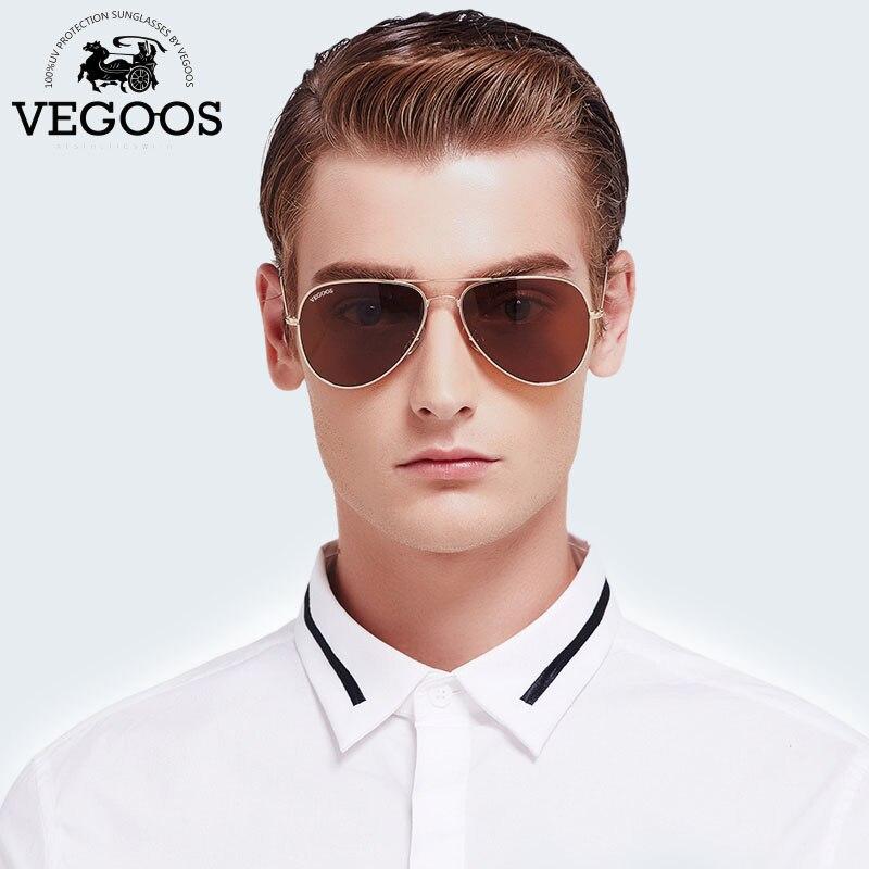 VEGOOS Брендовая Дизайнерская обувь Для мужчин солнцезащитные очки пилота авиации градиентные линзы очки для Для мужчин Мужская солнцезащитн...
